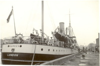 Warden  Trinity House support vessel at Great Yarmouth Docks July 1956