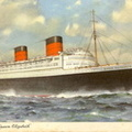Cunard Line Official Postcard Serial Number B1169  souvenir of onboard visit