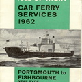 Isle of Wight Ferry Timetable 1962
