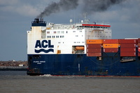 Atlantic Compass IMO 8214176 57255gt Built 1984 Container/Ro Ro Cargo Flag Sweden