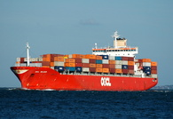 OOCL Belgium IMO 9169419 39174gt Built 1998 Container Ship Flag Hong Kong Orient Overseas Container Line