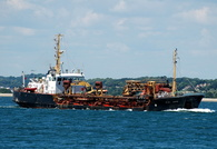 Sand Serin  IMO 7342134 1283gt Built 1974 Dredger Flag UK