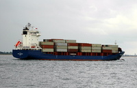 WMS Harlingen  IMO 9339040 7545gt Built 2006 Container Ship Flag Cyprus