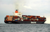 Glasgow Express  IMO 9232589 46009gt Built 2002 Container Ship Flag Germany ex Maersk Dayton