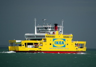 Red Osprey in Ikea Livery passing Calshot May 2009