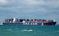 CMA CGM Ravel  IMO 9221839 73059gt Built 2001 Container Ship Flag Kerguelen Isles