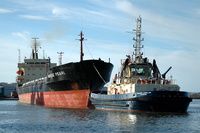 Nordic Pearl with Tugs Svitzer Stanlow and Ashgarth