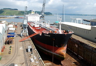 Sinbad in Falmouth dry dock No2