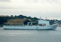 RFA Mounts Bay   IMO 9240770 23569gt Built 2005 Naval Auxiliary Flag UK