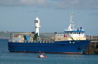Gry Maritha   IMO 8008462 590gt Built 1981 Palletised Cargo Ship Flag UK at Penzance
