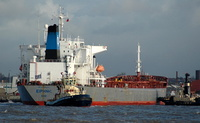 Bulk Carrier Irene on the River Mersey