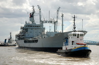 RFA Gold Rover assisted by Tugs Smit Waterloo & Smit Liverpool