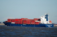 Independent Accord    IMO 9306237 17000gt Built 2007 Container Ship Flag Liberia Peter Dohle Schiffahrts-KG