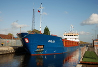 Ohlau at Latchford Locks on the Manchester Ship Canal