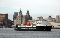 Caledonian MacBrayne Isle of Arran on the River Mersey 4/4/09