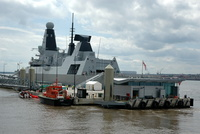 HMS Daring Type 45 Destroyer four day visit to Liverpool