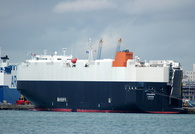 Triumph IMO 9432892 46800gt Built 2008 Vehicles Carrier Flag UK Laid up at Southampton