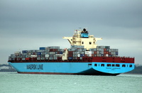 Maersk Sheerness IMO 9299939 94724gt Built 2006 Container Ship Flag Germany