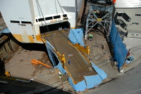 Grande Atlantico repairs to the stern ramp