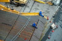 Grande Atlantico ramp repairs being carried out