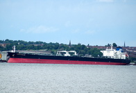Overseas Everglades IMO 9394935 62775gt Built 2008 Crude Oil Tanker flag Mashall Isles on Tranmere Oil Terminal