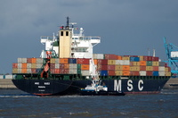 MSC Suez IMO8918978 37071gt Built 1993 Container Ship Flag Panama