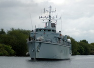 HMS Ledbury on the Manchester Ship Canal
