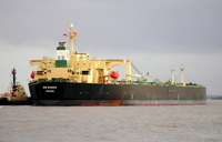 BM Mimosa IMO 9337406 56172gt Built 2007 Crude Oil Tanker Flag Panama arriving for Tranmere