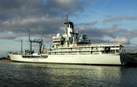 RFA Black Rover IMO 7329338 7574gt Built 1974 at West Float Birkenhead