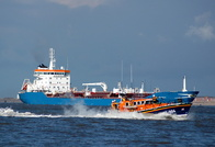 Tanker Vulcano M and Mersey Class RNLI Lifeboat 12-004