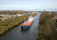 Suderau IMO 9313682 2461gt Built 2005 General Cargo Ship from the high level bridge Warrington