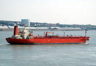 Naparima on the River Mersey heading for Eastham 17/4/2010