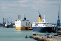 Saga Pearl ll Grande Scandinavia and La Suprise at Southampton Docks May 2010