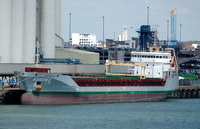 Kristin C IMO 9523938 4145gt Built 2010 General Cargo Ship Flag UK Berth 36