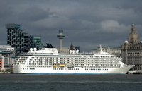 Passenger Cruise Ship The World at Liverpool