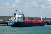 Gaschem Baltic IMO 9269269 7208gt Built 2007 LPG Tanker along side Fawley