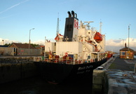 Stolt Puffin on the Manchester Ship Canal  23rd Jan 2012