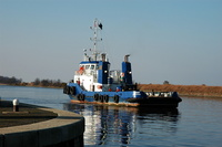 Tug East on the Manchester Ship Canal Ellesmere Port