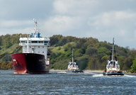 Orasund and Tugs MSC Victory & MSC Viking at Ellesmere Port