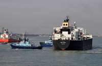 Pink Coral arriving for Fawley with Tugs Phenix & Vortex