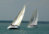 Yacht racing off Cowes