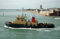 SD Bustler departing Portsmouth Harbour
