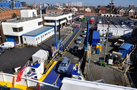 St Clare Loading at Portsmouth
