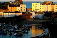 Sunset over Tenby Harbour