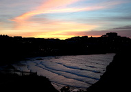 Sunset over Newquay Harbour