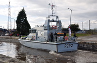 HMS Charger (P292) at Latchford Locks