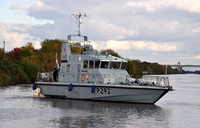 HMS Charger (P292) on the Manchester Ship Canal