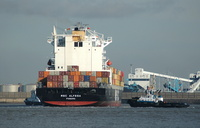 MSC Alyssa swinging for Gladstone 4th November 2012