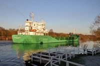 Arklow Resolve passing Thelwall Ferry 11th December 2012