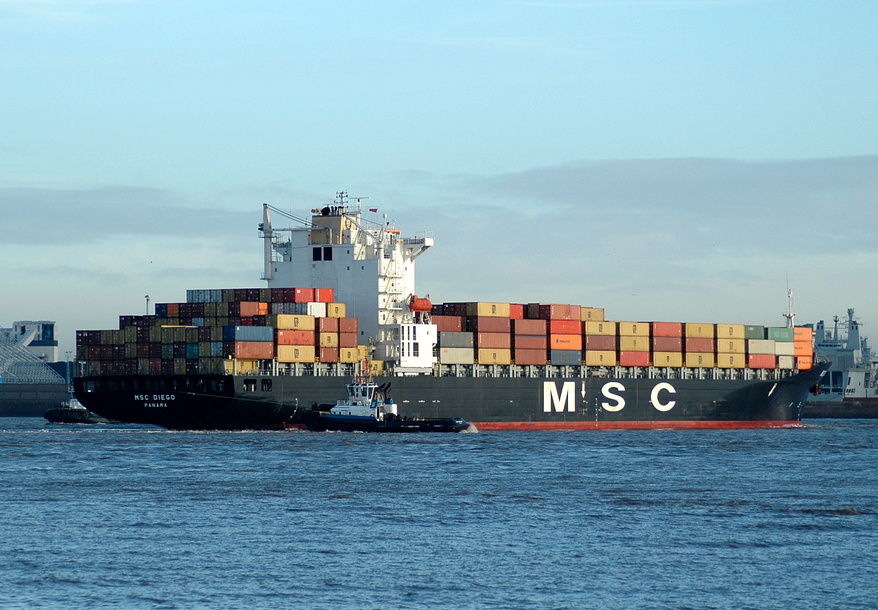 MSC Diego IMO 9202649 arriving for Gladstone 16th December 2012